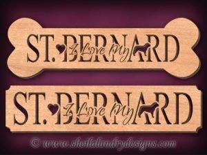 St. Bernard Scroll Saw Pattern
