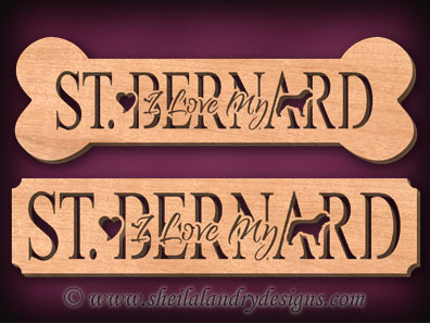 St. Bernard Scroll Saw Pattern
