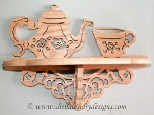 Tea Scroll Saw Shelf Pattern