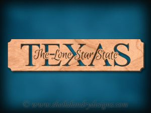 Texas - The Lone Star State Scroll Saw Pattern