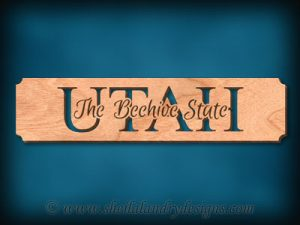 Utah - The Beehive State Scroll Saw Pattern