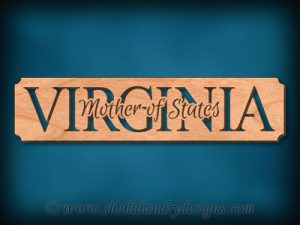 Virginia - Mother Of States Scroll Saw Pattern