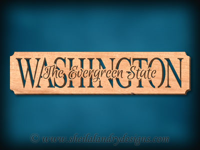 Washington - The Evergreen State Scroll Saw Pattern