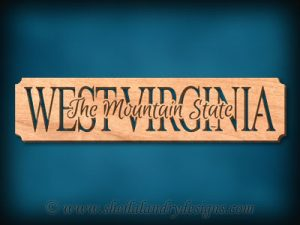 West Virginia - The Mountain State Scroll Saw Pattern
