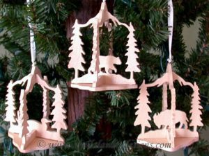 Wildlife Scroll Saw Ornaments Pattern