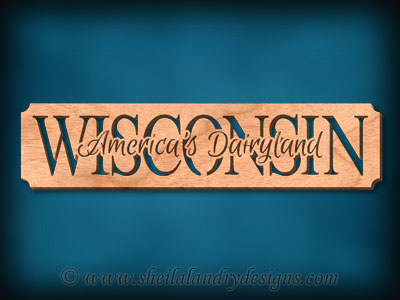 Wisconsin - America's Dairyland Scroll Saw Pattern