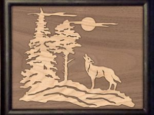 Wolf Overlay Scroll Saw Pattern