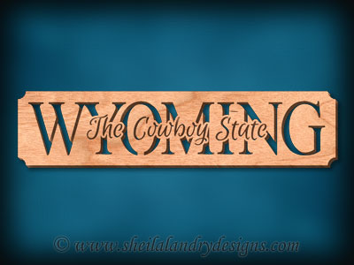 Wyoming - The Cowboy State Scroll Saw Pattern