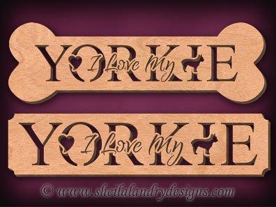Yorkie Scroll Saw Pattern