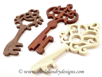 Antique Keys Laser Pattern