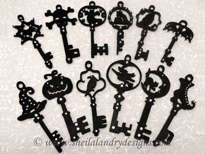 Antique Keys Vector SVG
