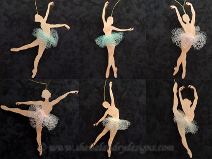 Ballerina Ornaments Laser Pattern