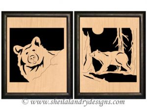 Bear Portrait Scroll Saw Pattern