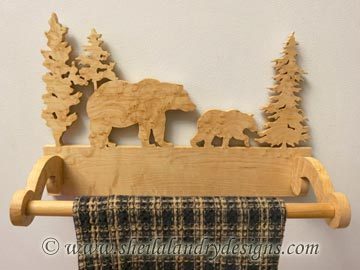 Bear Scroll Saw Towel Holder