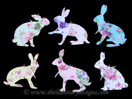 Bunny Ornaments Laser Pattern