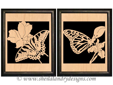 Butterflies Portrait Scroll Saw Pattern