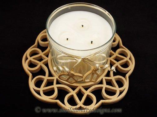 Celtic Candle Holder Laser Pattern