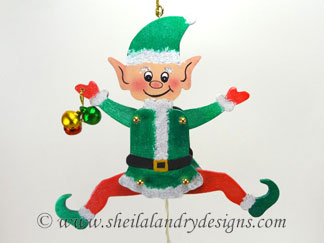 Christmas Elf Scroll Saw Pattern