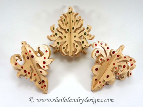 Christmas Ornaments Laser Pattern