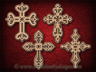 Crosses Cricut Vector File