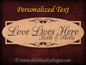 Customizeable Love Scroll Saw Pattern