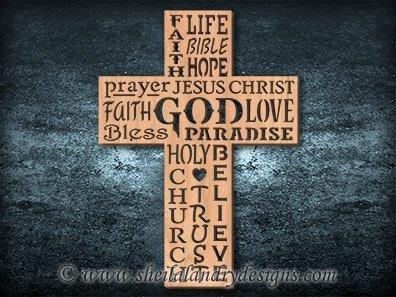 God Cross Scroll Saw Pattern