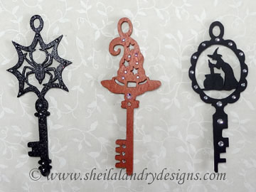 Halloween Keys Scroll Saw Pattern