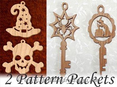 Halloween Ornaments Scroll Saw Pattern