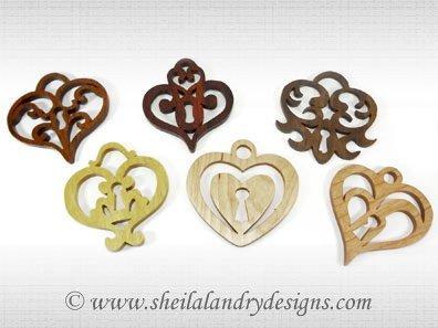 Heart Ornaments Laser Pattern