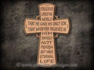 John 3:16 Scroll Saw Cross