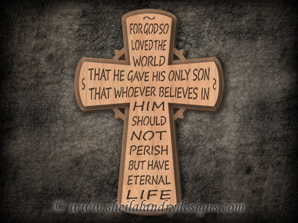 John 3:16 Scroll Saw Cross
