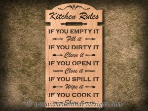 Kitchen Rules Scroll Saw Pattern
