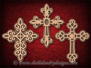 Layered Crosses Scroll Saw Pattern