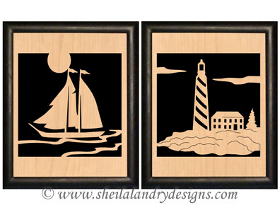 Lighthouse Portrait Scroll Saw Pattern