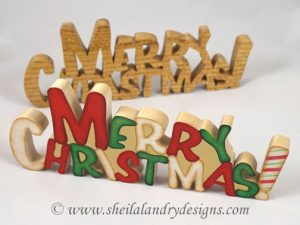 Merry Christmas Scroll Saw Pattern