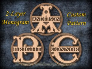 Monogram Scroll Saw Pattern