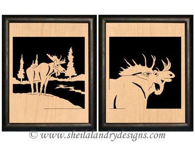 Moose Portrait Scroll Saw Pattern