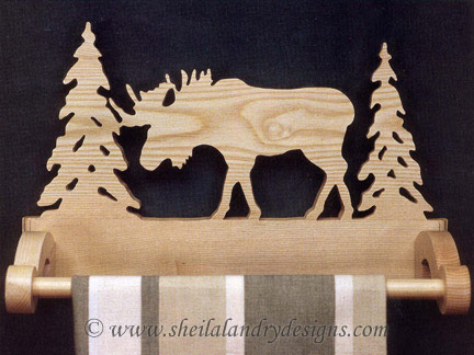 Scroll Saw Moose Towel Holder