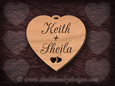Personalized Heart Scroll Saw Pattern