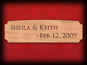 Personalized Scroll Saw Name Plate