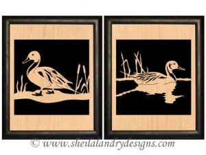 Pintail Ducks Scroll Saw Pattern