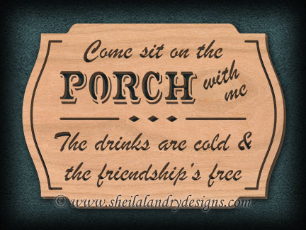 Porch Friendship Scroll Saw Pattern