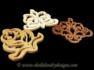 Regal Damask Scroll Saw Ornaments