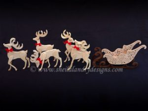 Santa Sleigh Scroll Saw Pattern