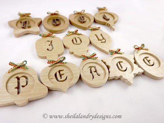 Scroll Saw Alphabet Ornament Pattern