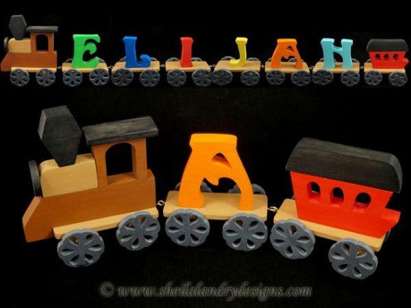 Scroll Saw Alphabet Train Pattern