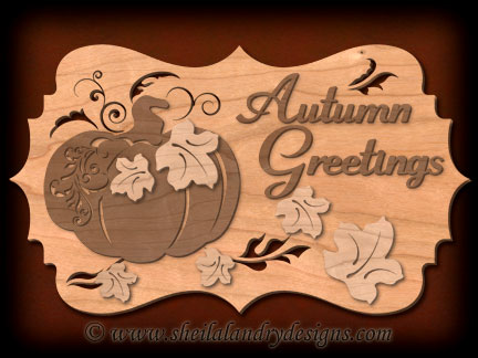 Scroll Saw Autumn Welcome Pattern