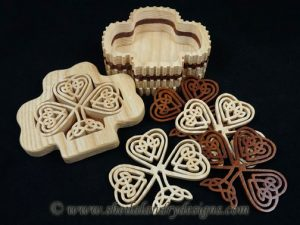 Scroll Saw Celtic Shamrock Box