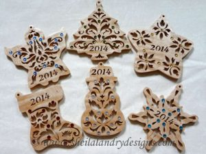 Scroll Saw Christmas Ornaments Pattern