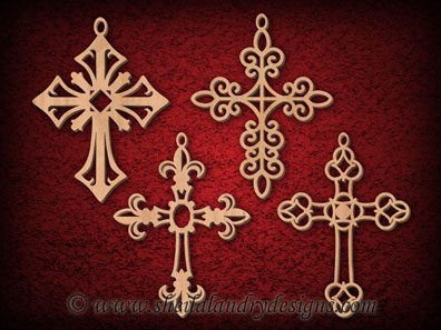 Scroll Saw Cross Ornaments